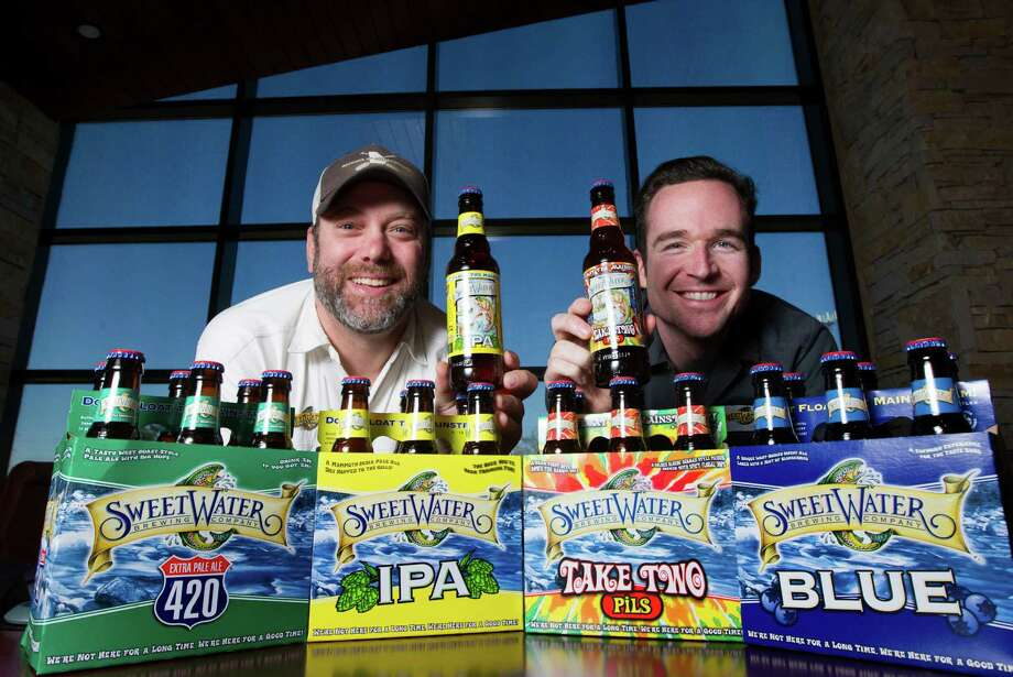 SweetWater VP of Marketing Steve Farace and Field Marketing Manager Zak Schroerlucke pose for a portrait on Wednesday, Feb. 18, 2015, in Houston. ( J. Patric Schneider / For the Chronicle ) Photo: J. Patric Schneider, Freelance / © 2015 Houston Chronicle
