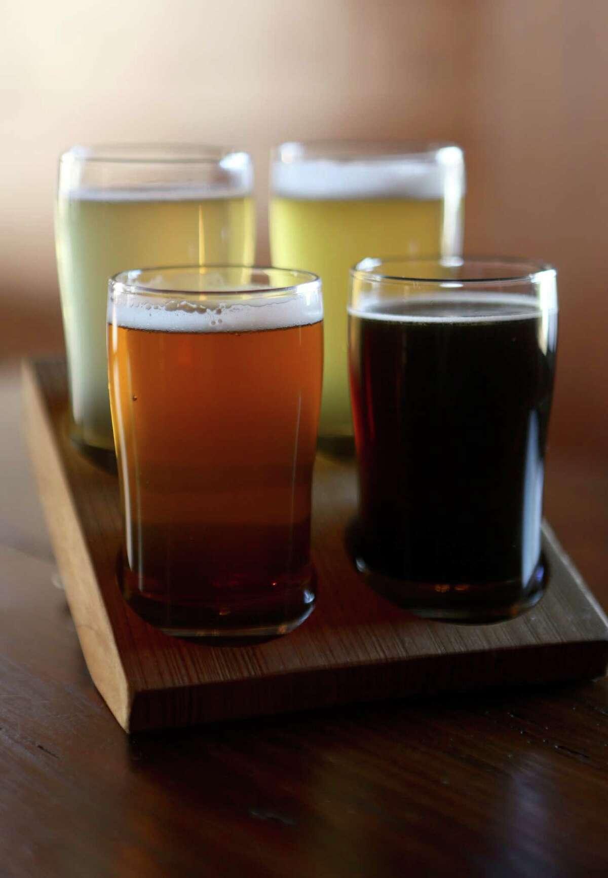 Beer flight from