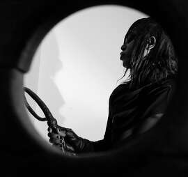 "A video still from M. Lamar's exhibition ""Negrogothic"" on view at the Walter and McBean Galleries, San Francisco Art Institute."