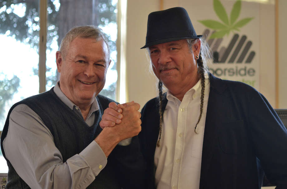 Rep. Rohrabacher (R) Orange County, and Oakland's Steve DeAngelo hope to curb federal efforts to shut down medical cannabis sales. Photo: Morgan Flores / ONLINE_YES