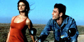 "Penélope Cruz and Javier Bardem in ""Jamón Jamón."""