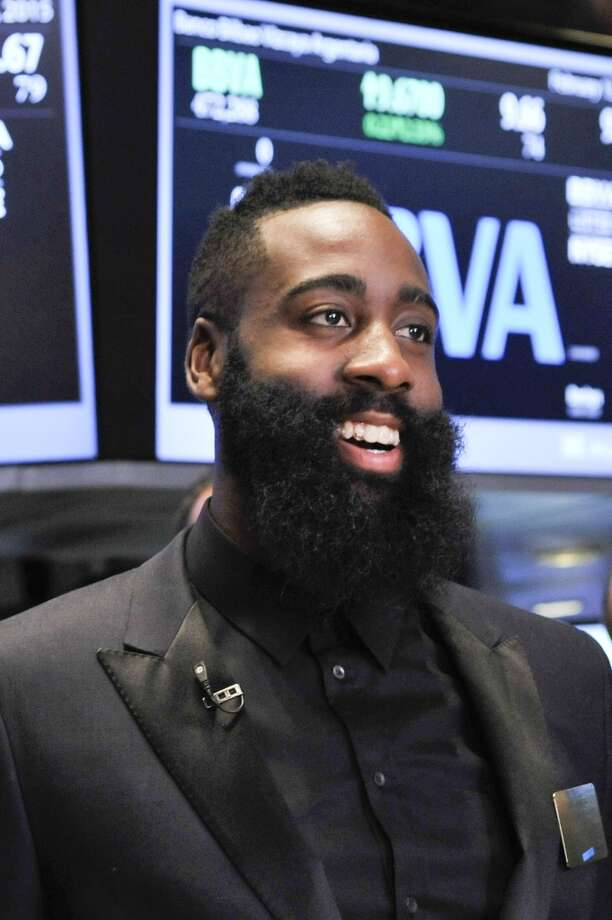James Harden Harden rang the opening bell at the New York Stock Exchange with former Oklahoma City teammate Kevin Durant on Feb. 13, Photo: Kris Connor, Getty Images