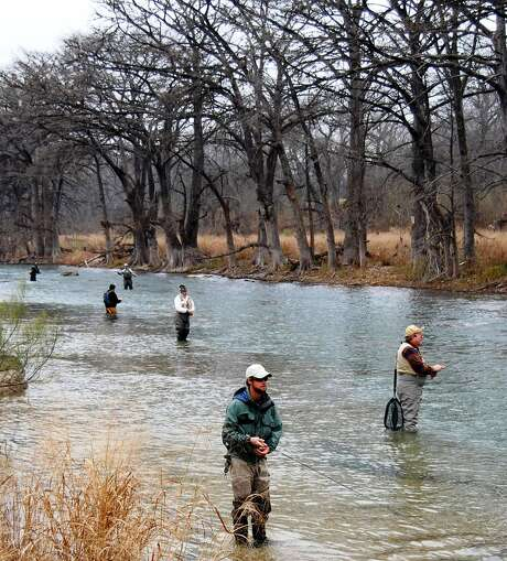 Preserving the Guadalupe River trout fishery to allow future generations the opportunity to fish in the southernmost trout stream, plus assisting anglers of all ages in developing their skills are just part of the festivities that make up the Guadalupe River Chapter of Trout Unlimited's annual TroutFest to be conducted today through Sunday. Photo: Ralph Winingham / For The Express-News