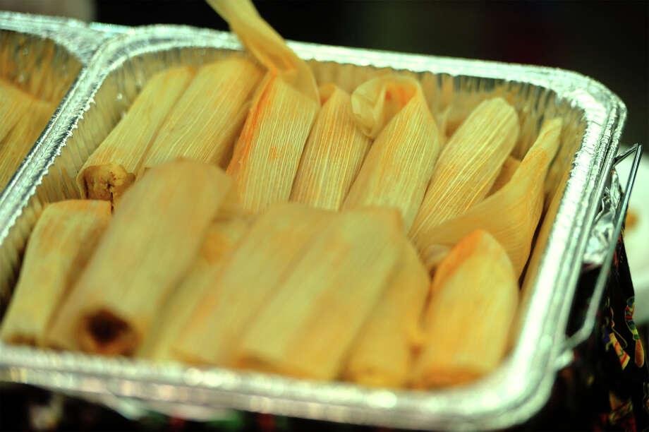 Pork tamales at Thursday's Region 5 Tasting at the Beaumont Civic Center.  Photo taken Thursday, February 19, 2015  Guiseppe Barranco/The Enterprise Photo: Guiseppe Barranco, Photo Editor