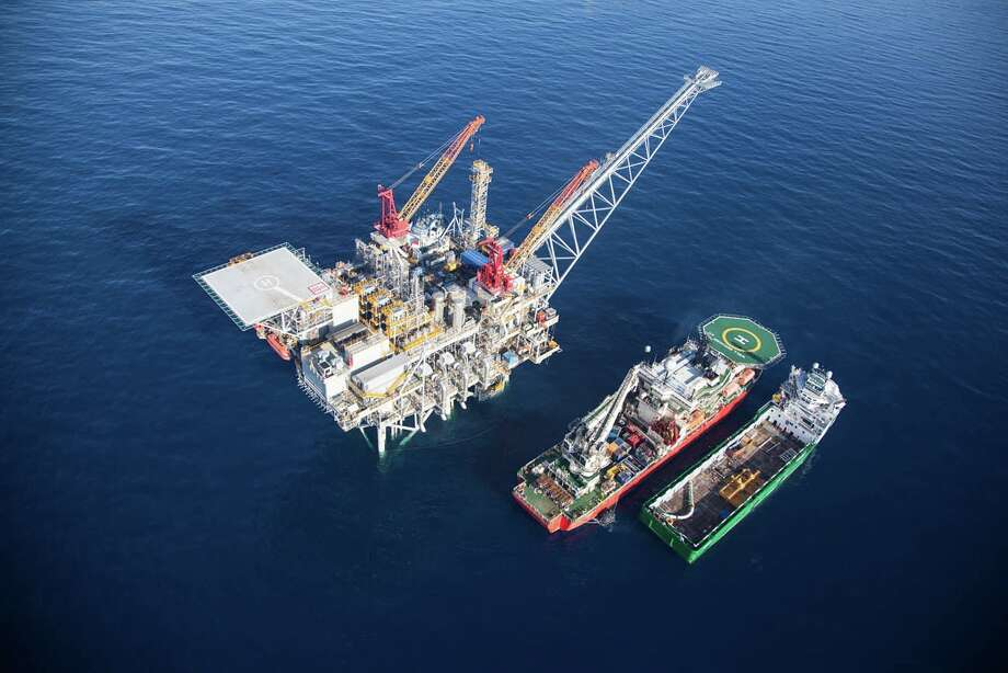 This platform from Houston-based Noble Energy operates in the Tamar field, a major natural gas play in the Mediterranean Sea off Israel. That nation's antitrust regulators late last year refused to complete a deal reached by Noble. / ONLINE_YES