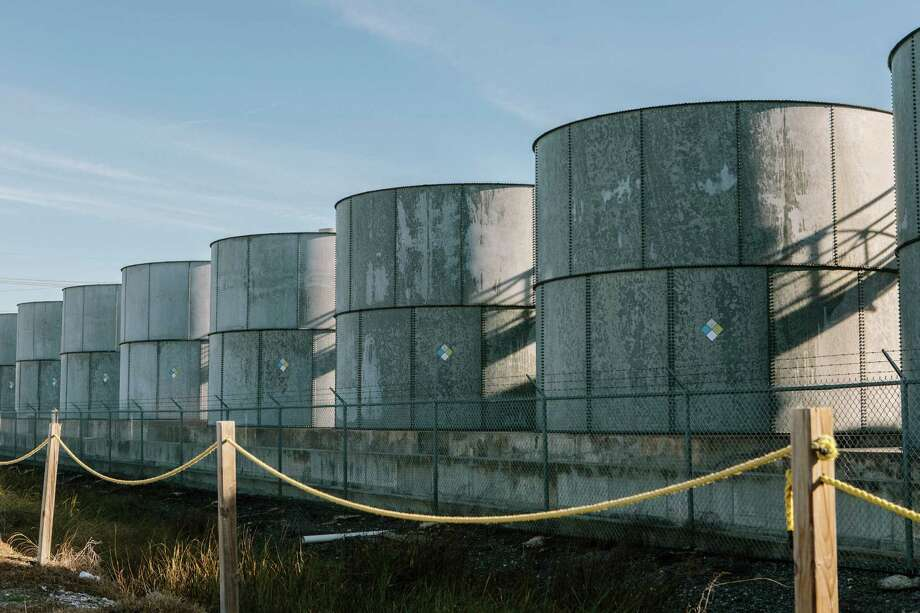U.S. oil inventories hit another record last week. These storage tanks are at Port Fourchon, Louisiana.  (William Widmer/The New York Times) Photo: WILLIAM WIDMER, STR / NYTNS