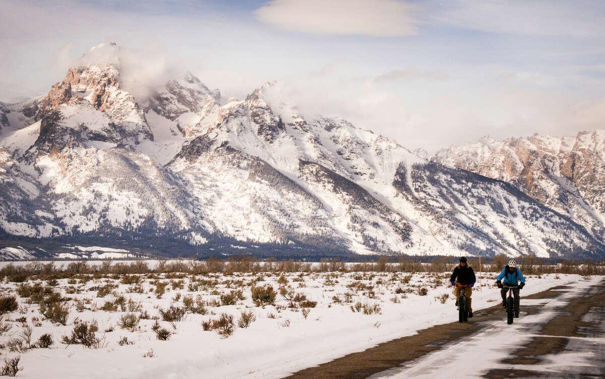 Half-day Teton Mountain Bike Tours include time on a fat-tire bike in Grand Teton National Park.