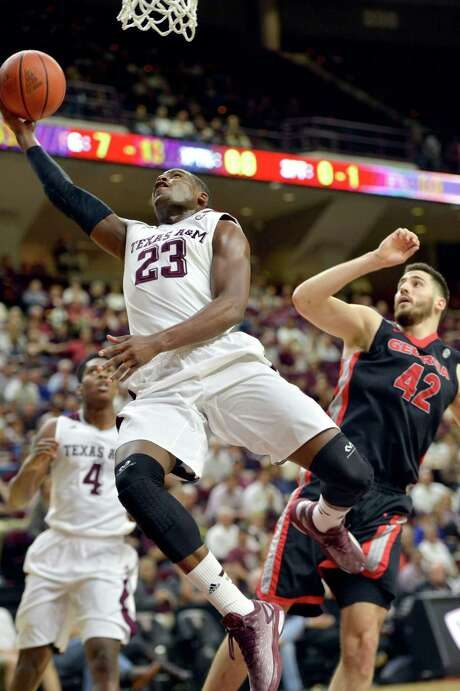 Texas A&M guard Danuel House (23) is aware the NCAA Tournament is around the corner but insists the Aggies simply try to worry about their next game. Photo: Sam Craft, MBR / College Station Eagle