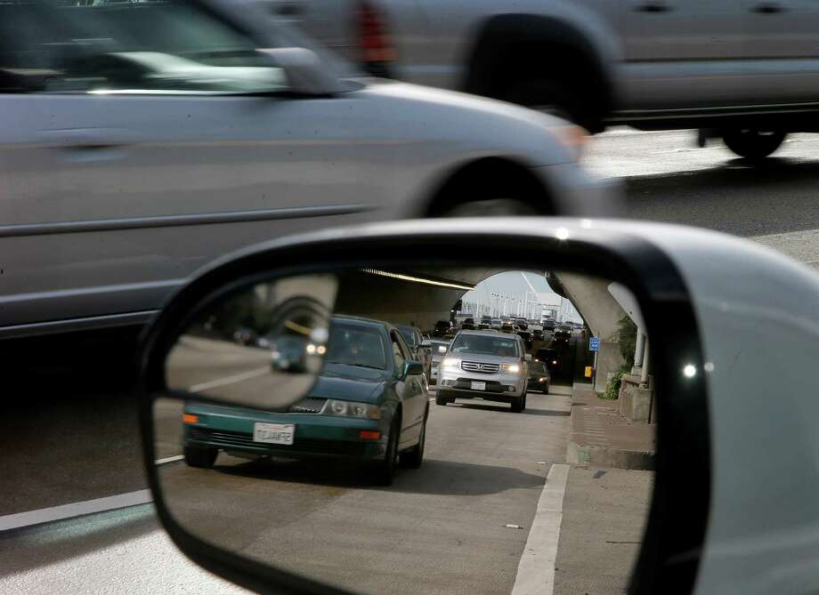 One of the more difficult onramps from Treasure Island to the Bay Bridge westbound Thursday February 12, 2015. Several Bay Area freeway onramps are notoriously difficult and dangerous to navigate.