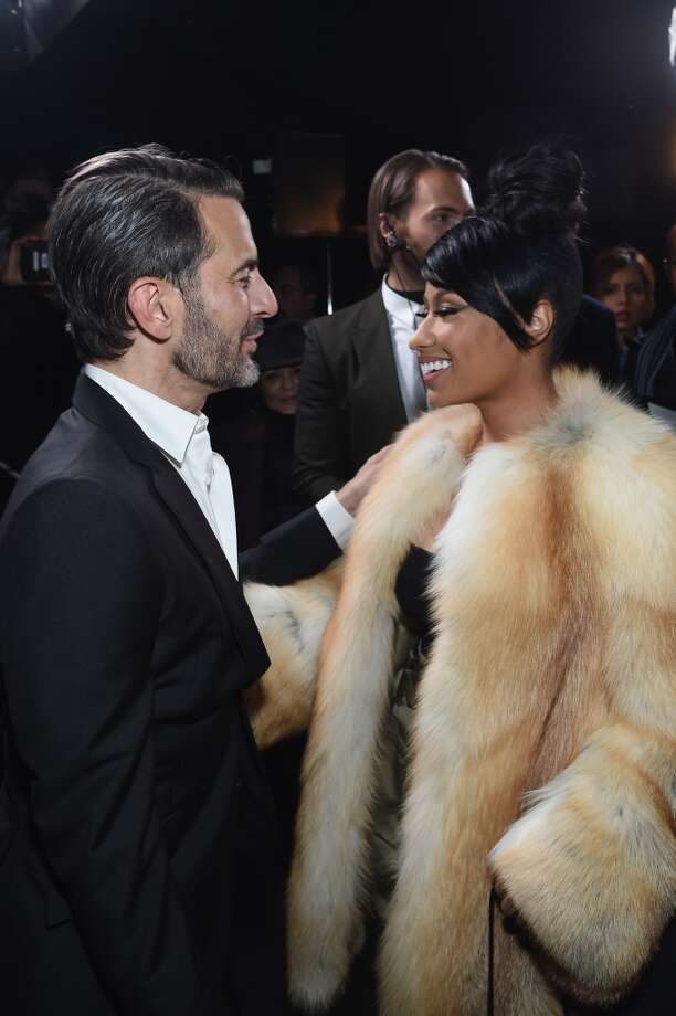 Designer Marc Jacobs  and rapper Nicki Minaj pose backstage at the Marc Jacobs fashion show. Photo: Jamie McCarthy, Getty Images For Marc Jacobs