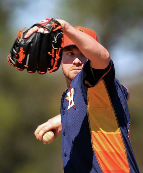 Following an inconsistent return at the Class AAA level last season on the heels of Tommy John surgery, Alex White feels more like himself this spring. Photo: Karen Warren, Staff / © 2013 Houston Chronicle