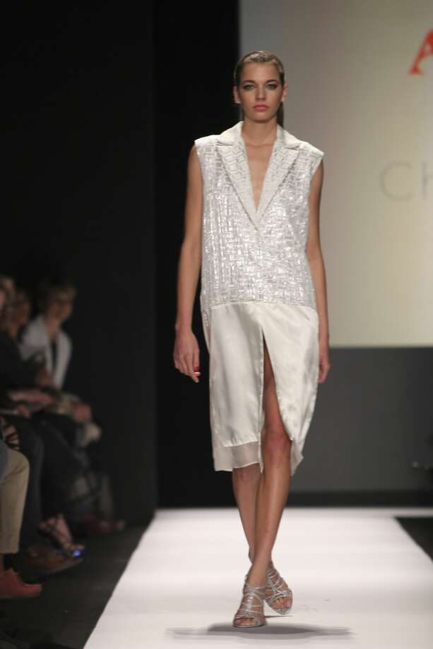 Designs by Chutian Zhong were shown at the Art Institutes fashion show Feb. 17. Photo: Elvia Gobbo)