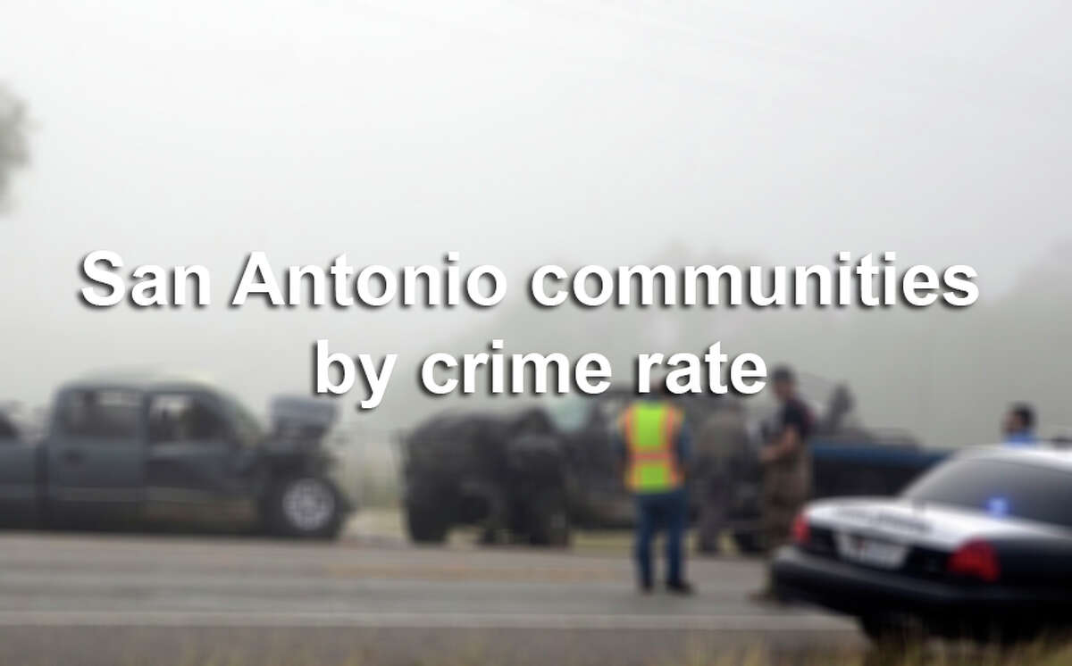 Scroll through the slideshow to see which cities and towns in the San Antonio-New Braunfels metropolitan area have the highest crime rates.