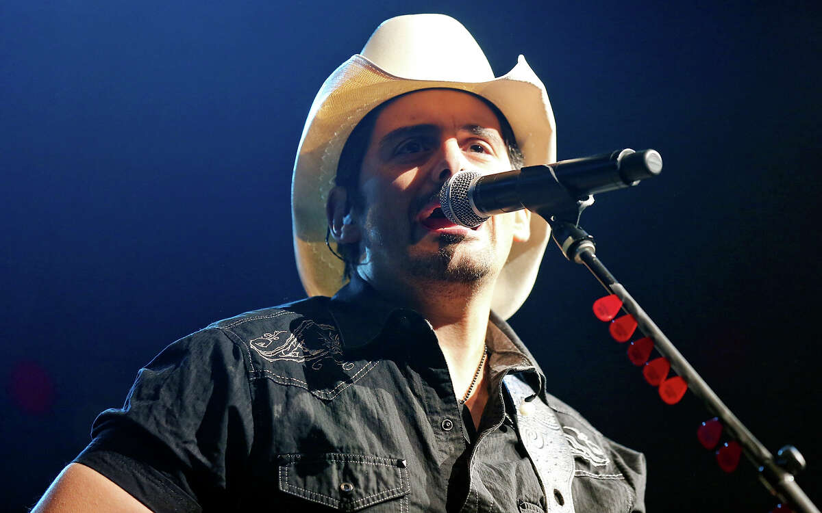 Brad Paisley performs during the 66th annual San Antonio Stock Show & Rodeo Thursday Feb. 19, 2015 at the AT&T Center.