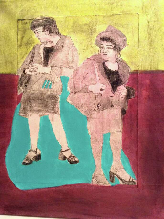 An untitled piece by Ellen Gordon is part of a show at Stamford's Loft Artists Association inspired by the work of Andy Warhol. Photo: Contributed Photo / Connecticut Post Contributed