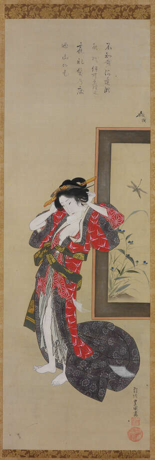 """Courtesan in Her Boudoir"" by Utagawa Toyokuni (1769-1825). Photo: John Bigelow Taylor / Asian Art Museum, S.f. / ONLINE_YES"
