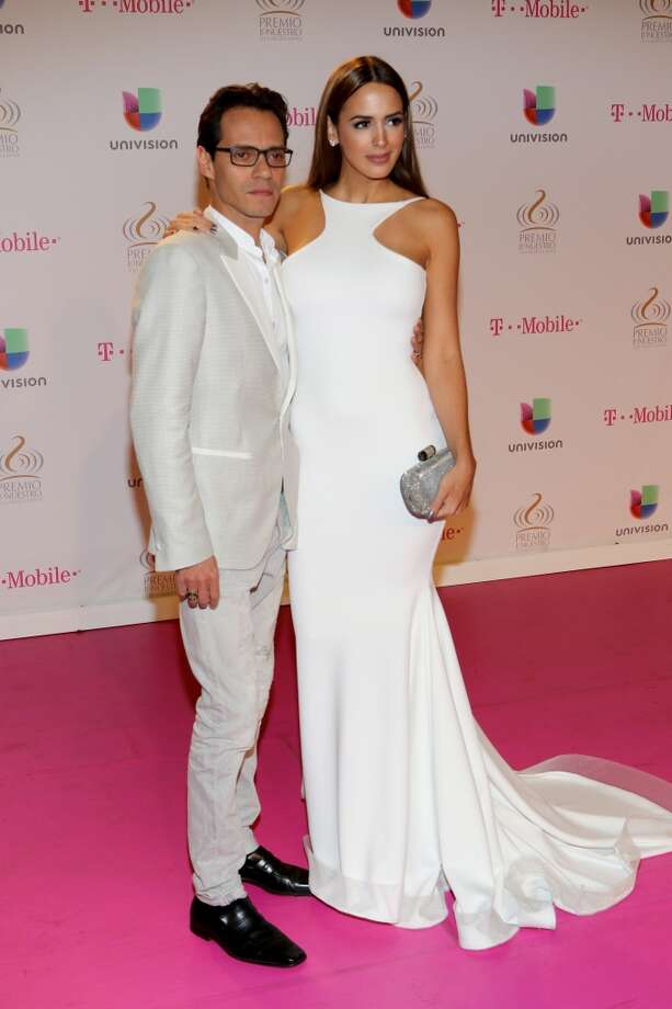 Marc Anthony (L) and Shannon De Lima attend the 2015 Premios Lo Nuestros Awards at American Airlines Arena on February 19, 2015 in Miami, Florida. Photo: Alexander Tamargo, Getty Images