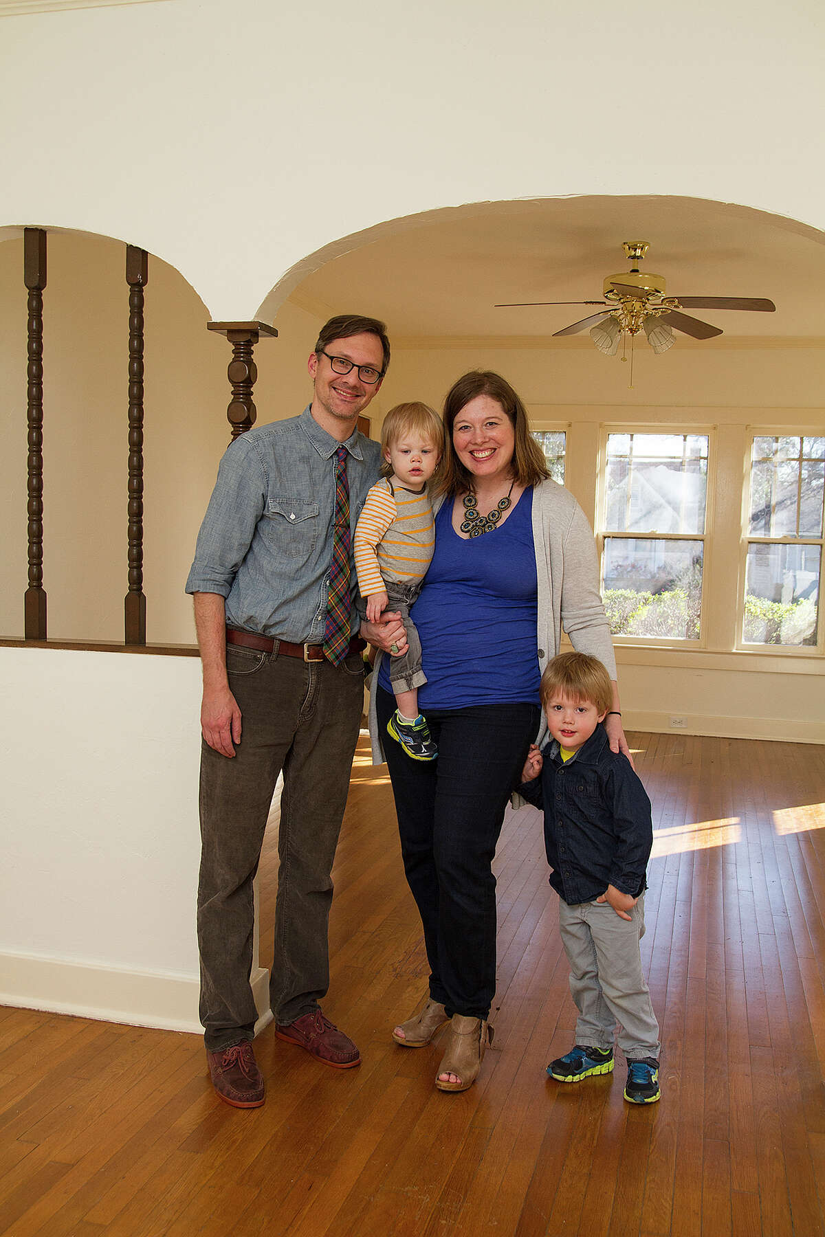 Joshua and Emily Robbins with their children Caedmon, 15 months, and Harper, 3, are purchasing a home in Monticello Park. The Robbinses received a $15,000 grant for down-payment assistance from the NeighborhoodLIFT program.