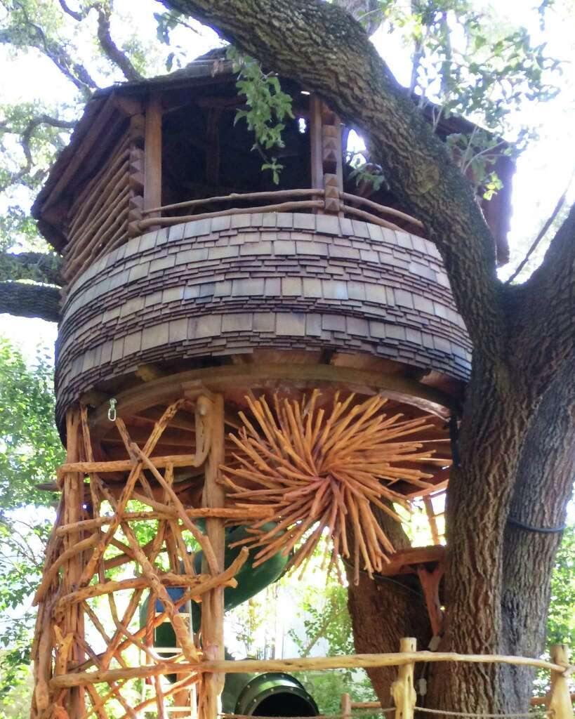 a backyard treehouse designed by attie jonker features his signature use of reclaimed wood and natural