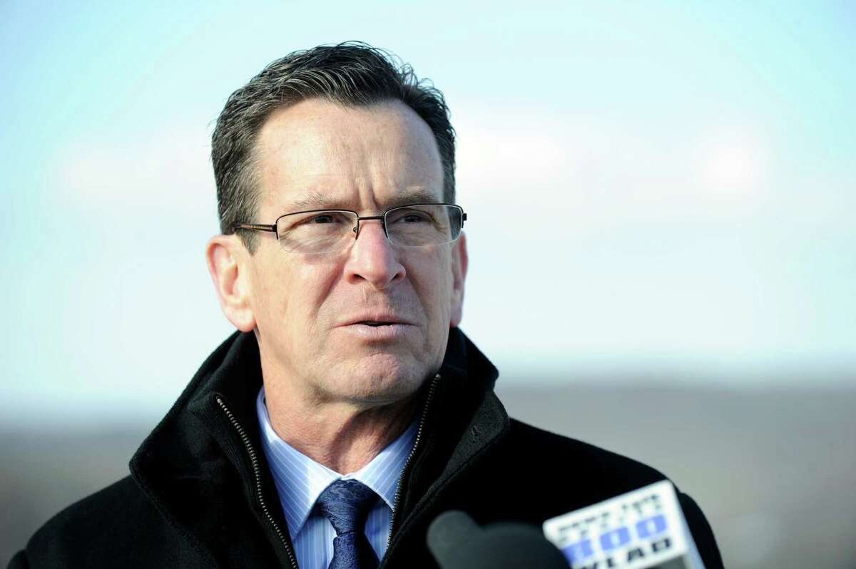 Gov. Dannel Malloy addresses a news conference held at the I-84 West Exit 2 rest stop last month. The Danbury stop aimed to highlight the importance of upgrading the transportation infrastructure in the region and state.