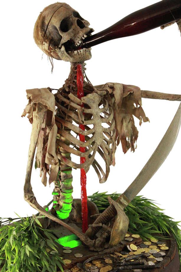 A skeleton anamatronic from the original Pirates of the Caribbean ride. Photo: Van Eaton Galleries, Courtesy