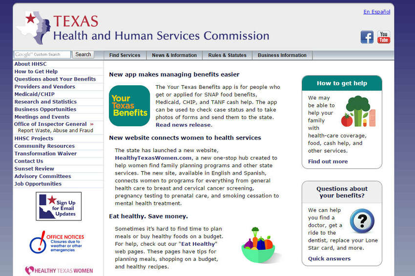 Health And Human Services Commission No. off employees: 12,079 Median Salary: $32,844 Source: Texas Tribune