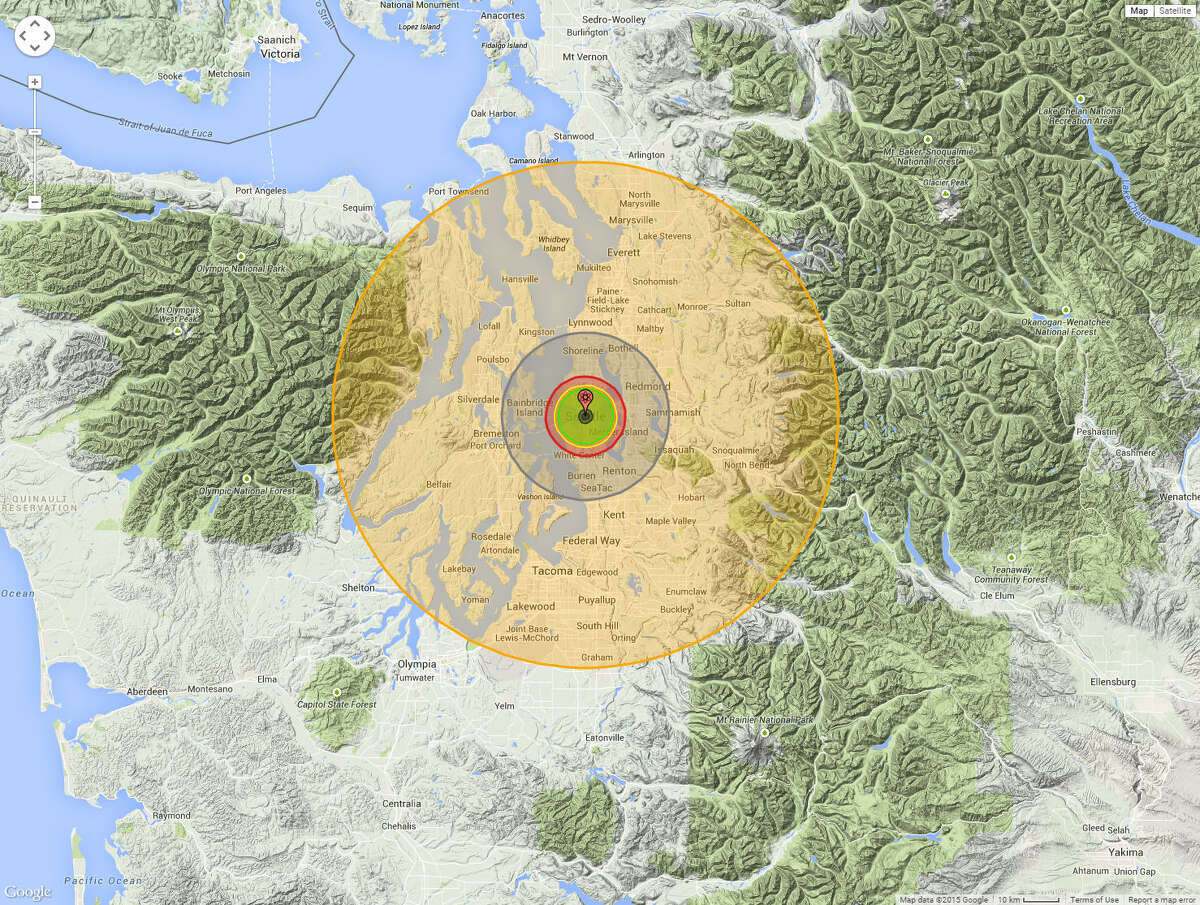 City: Seattle, Wash.Casualties: Around 1,474,440 deaths and 1,481,930 injuries