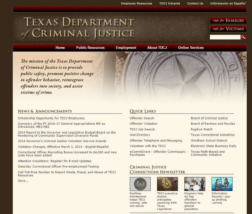 Texas Department Of Criminal Justice No. off employees: 37,825 Median Salary: $37,732 Source: Texas Tribune