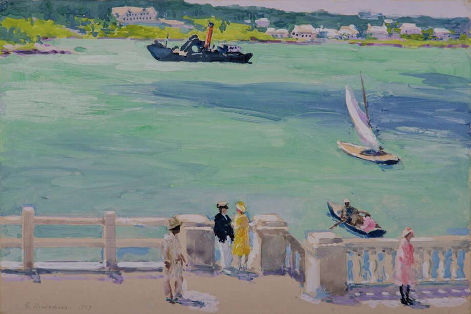 """""""The Landing, Bermuda"""" is by American Impressionist Gari Melchers (1860-1932). It will be included in a new exhibition at the Belarmine Museum of Art at Fairfield University. Photo: Contributed Photo / Connecticut Post Contributed"""