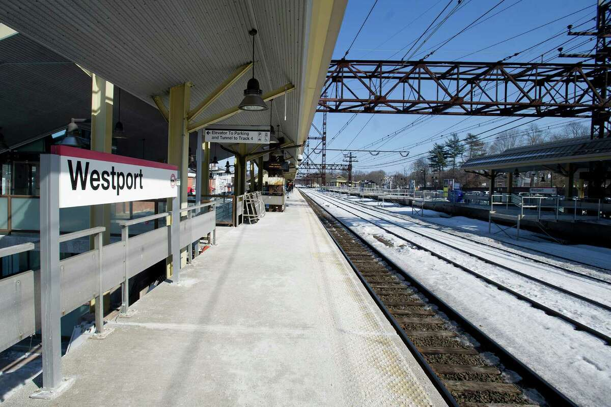 The Saugatuk train station in Westport, Conn., where a Metro-North conductor was assaulted on Friday, February 20, 2015.