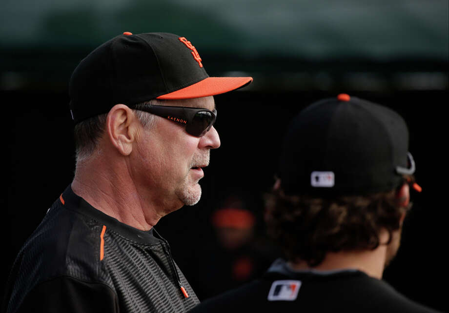 Giants manager Bruce Bochy, who Thursday had two stents inserted to improve blood flow to his heart, is expected to rejoin the team Sunday. Photo: Darron Cummings / Associated Press / AP