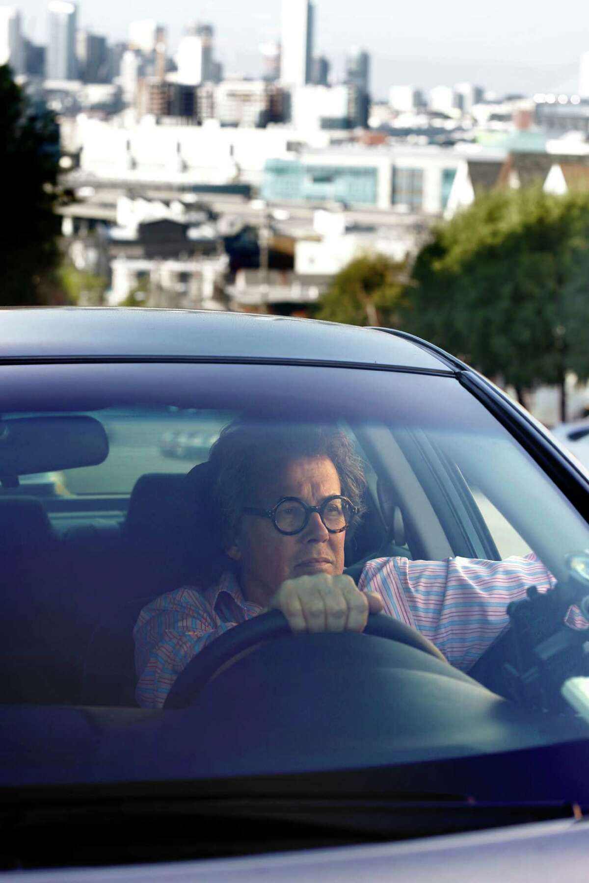 Artist Peter Ashlock, who drives for Uber and Lyft in San Francisco, has some tax headaches.