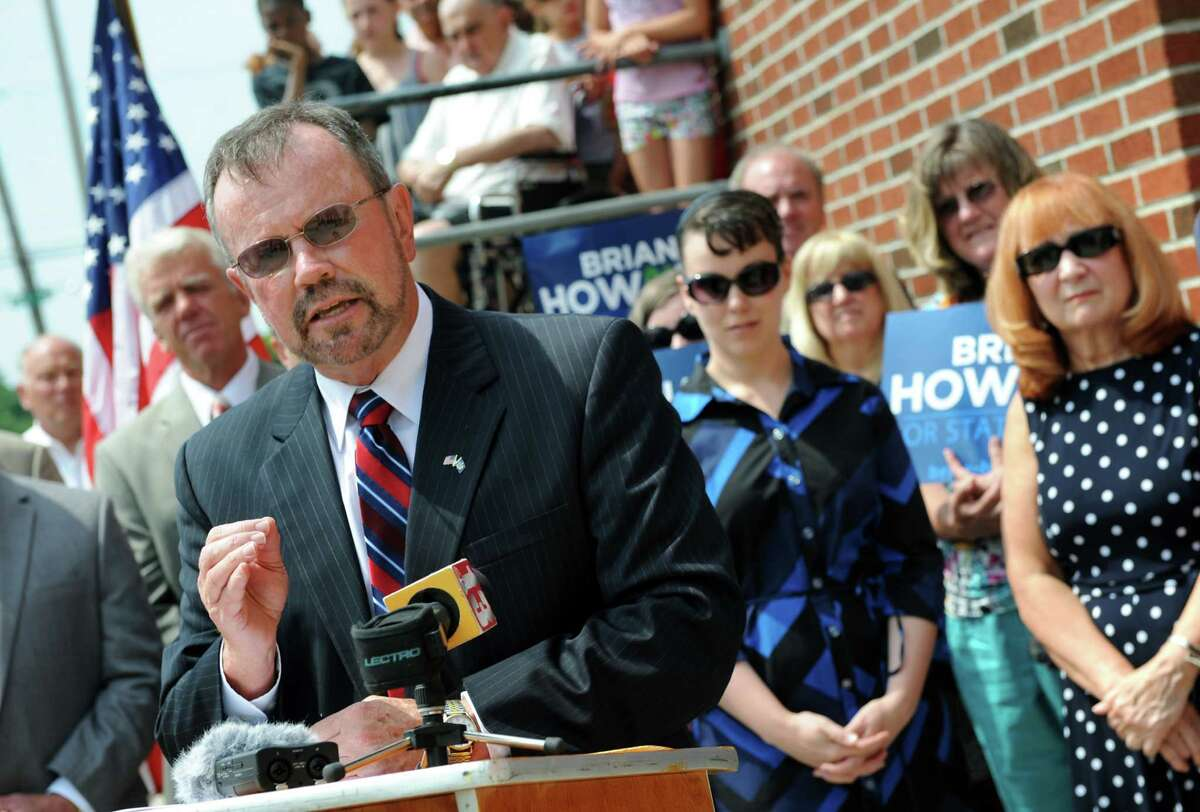 Democratic candidate Brian Howard, center, launches his campaign for State Senate on Tuesday, July 8, 2014, at the Lansingburgh Boys and Girls Club in Lansingburgh, N.Y. (Cindy Schultz / Times Union archive)