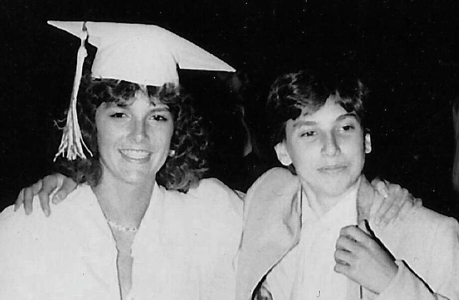 Siblings Toni (left) and Peter Hartlaub, 15, at her graduation in 1985. Photo: Hand Out / Courtesy Peter Hartlaub / ONLINE_YES