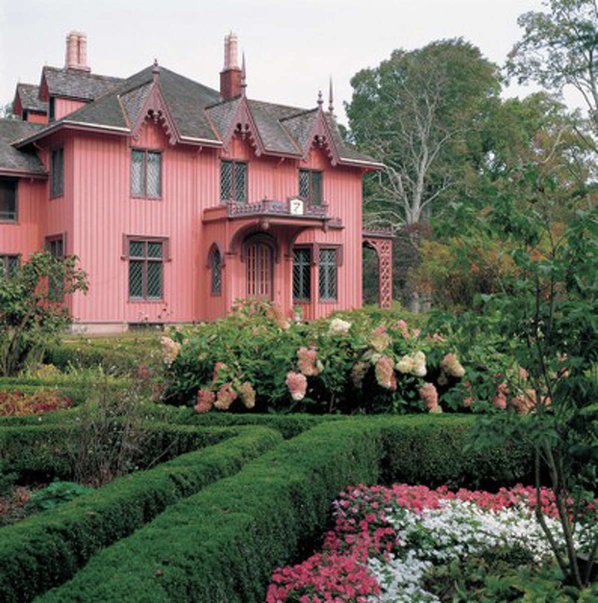 Not all of New England's great estate gardens have been totally lost. This one at Roseland Cottage, in Woodstock, has been restored.