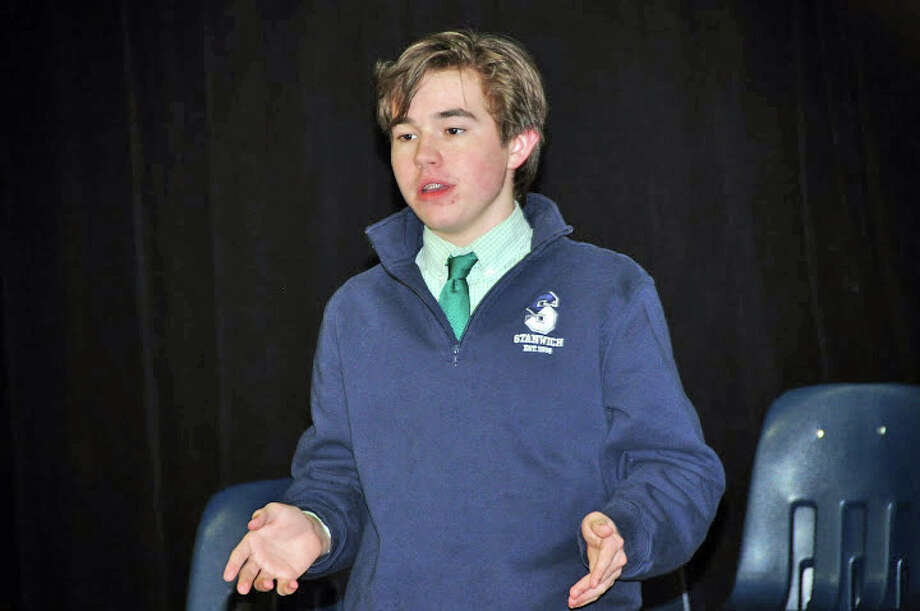 Stanwich School student Aidan Sebold is one of 11 Greenwich students competition in the 31st Annual Shakespeare Competition on Wednesday. Photo: Contributed Photo / Greenwich Time Contributed