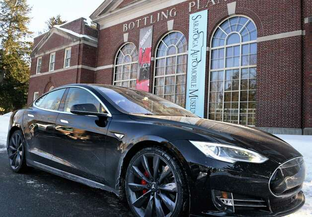 A new Tesla Model S P85D at the Saratoga Auto Museum in Saratoga Spa State Park Friday, Feb. 20, 2015, in Saratoga Springs, NY.  (John Carl D'Annibale / Times Union) Photo: John Carl D'Annibale / 00030693A