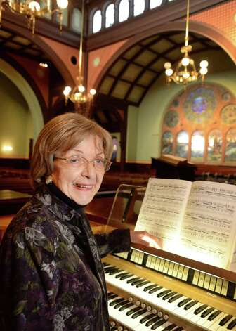 Church's organist of 42 years, Nancy Frank practices at the First Presbyterian Church of Albany Wednesday Feb. 18, 2015 in Albany, NY.  (John Carl D'Annibale / Times Union) Photo: John Carl D'Annibale / 00030649A