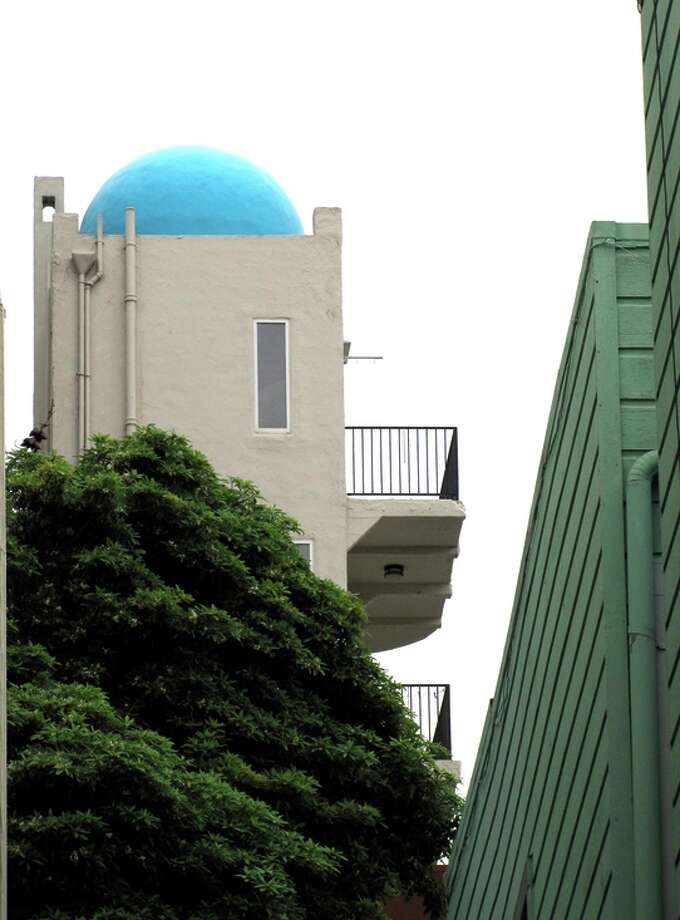 Pasquale's Tower, reached by an alley off a steep block of Kearny Street, is one of the most distinct buildings on Telegraph Hill. It was built by Italian immigrant Pasquale Gagno in 1933. Photo: John King / The Chronicle / ONLINE_YES