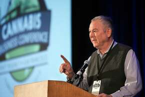 Rep. Dana Rohrabacher, a conservative Republican, speaks at the recent International Cannabis Business Conference in S.F.
