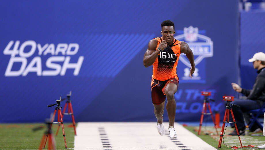 Wide receiver Phillip Dorsett of the University of Miami ran the second-fastest time among wide receivers in the 40-yard dash at the NFL combine. Photo: Joe Robbins / Getty Images / 2015 Getty Images