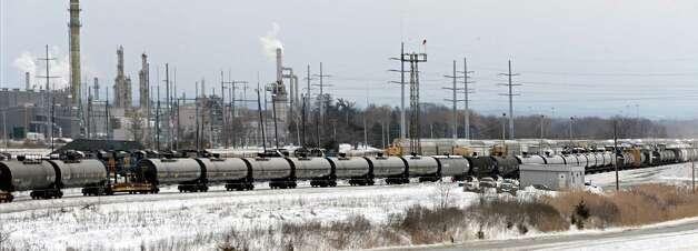 Tanker cars in the Selkirk rail yard Thursday, Feb. 19, 2015, in Selkirk, N.Y.  (John Carl D'Annibale / Times Union) Photo: John Carl D'Annibale / 00030680A