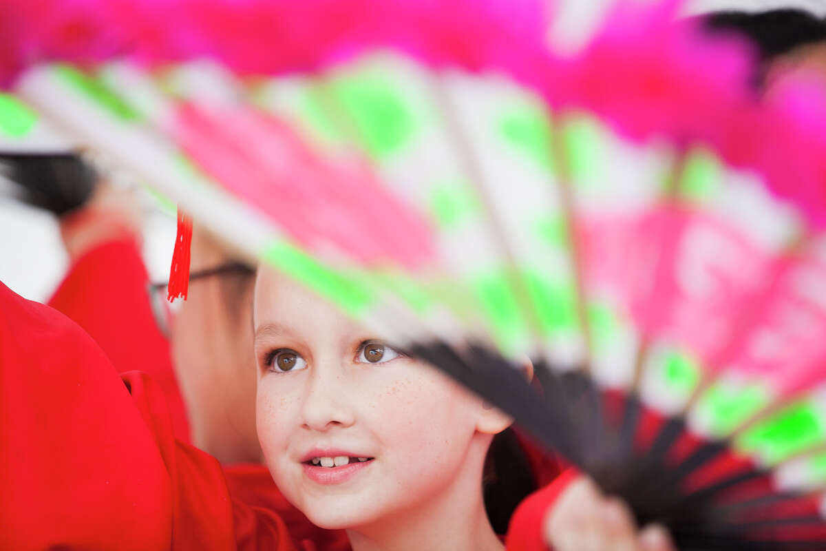 Lil Segner, 8, performs Saturday Feb. 21, 2015 at the 28th Annual Asian Festival.