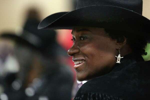 Naomi Hines attends the 22nd annual kick-off party for the Southwest Trail Riders Association on Saturday, Feb. 14, 2015, in Houston.