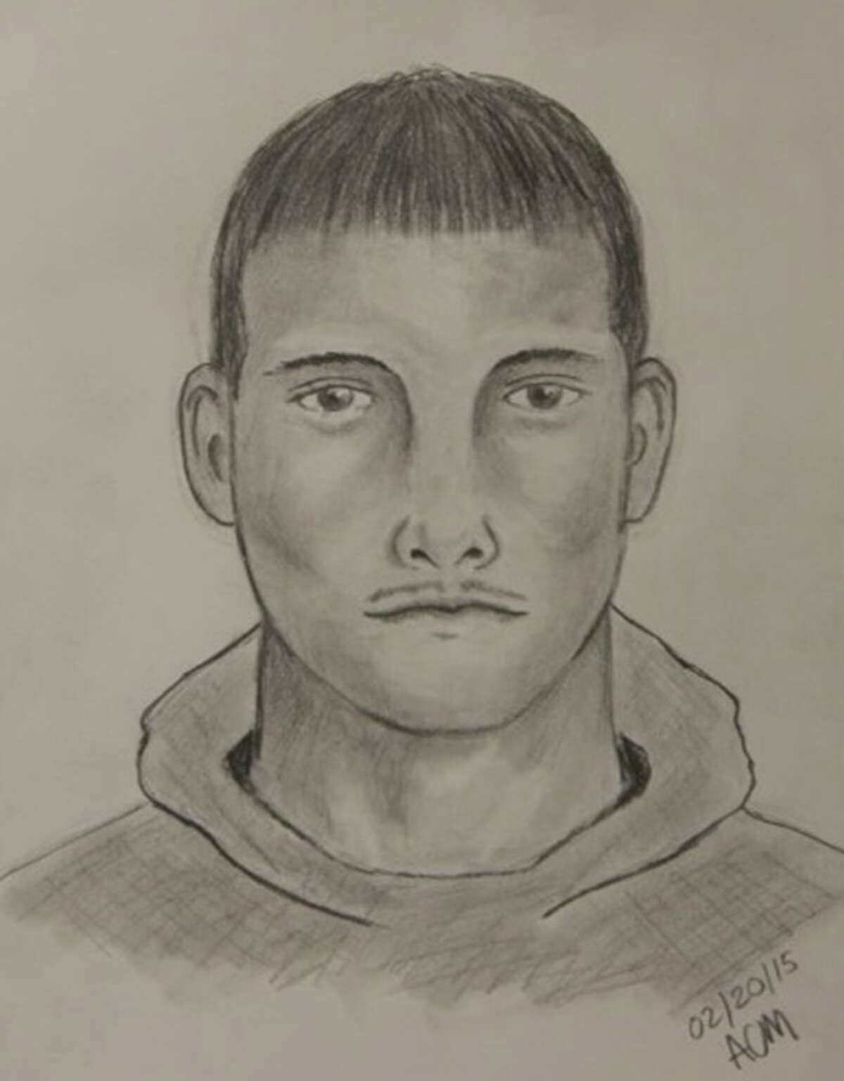 A police sketch of a man accused of sexually assaulting a female Thursday morning, Feb. 19, at Bamberger Nature Park.
