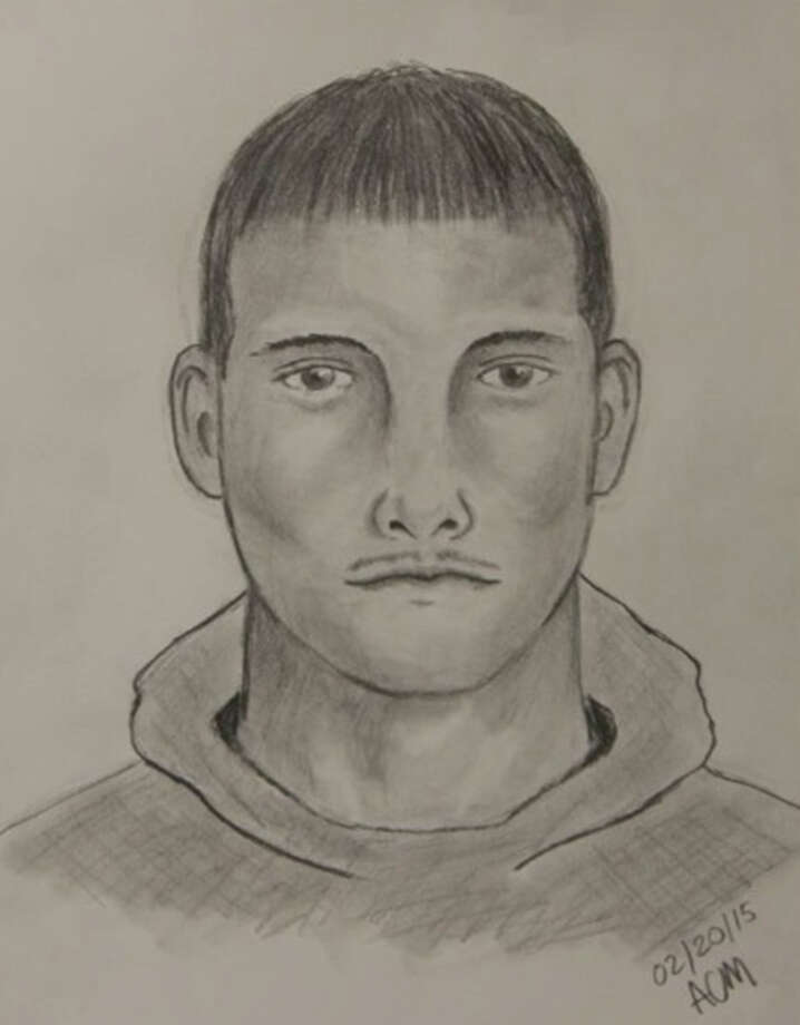 A police sketch of a man accused of sexually assaulting a female Thursday  morning, Feb
