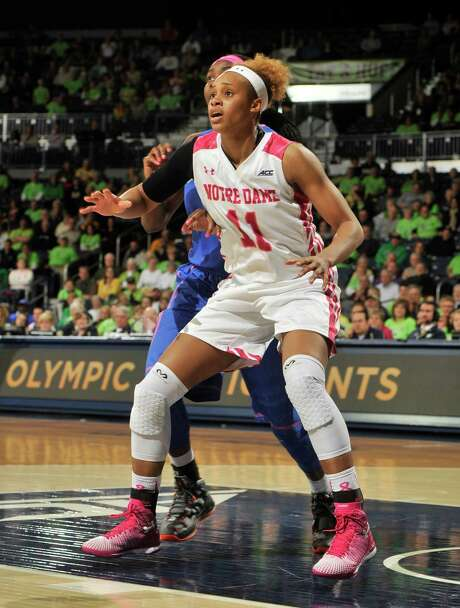 Freshman forward Brianna Turner is making her mark at Notre Dame, averaging more than 14 points and seven rebounds for the Fighting Irish. Photo: Joe Raymond, Fre / FR25092AP