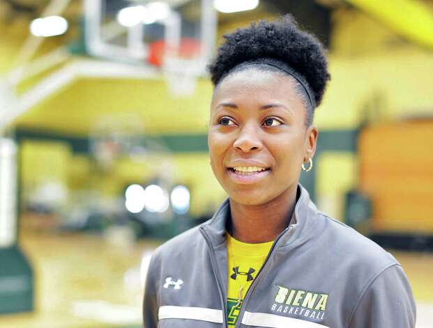 Siena basketball player Tehresa Coles during an interview at the college Wednesday Feb. 18, 2015, in Colonie, NY.  (John Carl D'Annibale / Times Union) Photo: John Carl D'Annibale / 00030639A