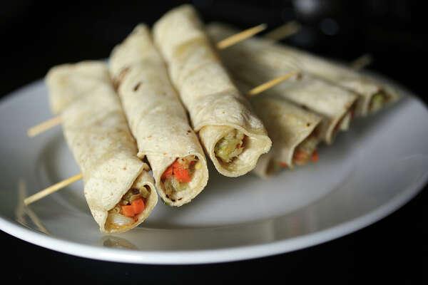 Recipe: Crab Taquitos With Tomatillo-Avocado Salsa