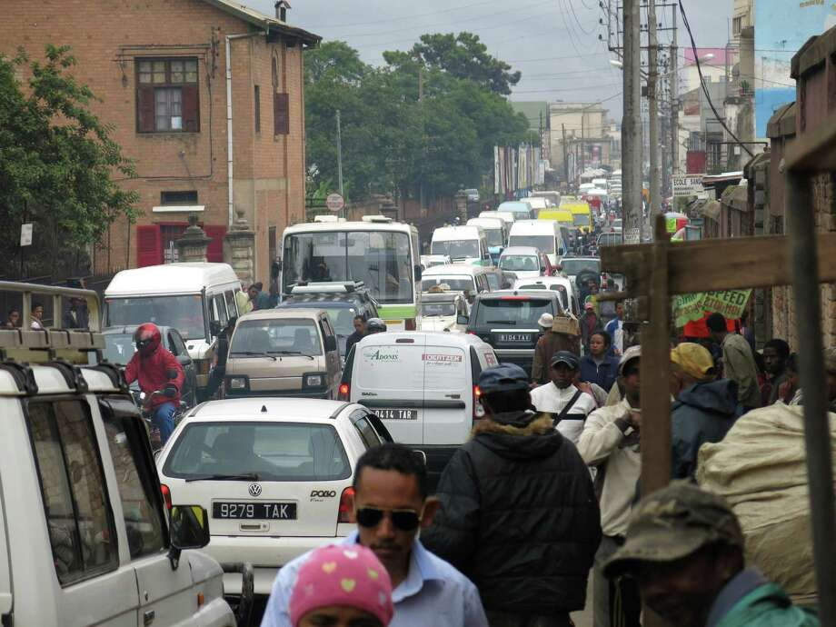 Madagascar's capital, Antananirivo, is packed with traffic, but rural areas with inadequate hospitals are a reason International SOS cautions against visiting. Photo: Martin Vogl, STR / AP
